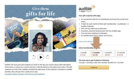 Buy Prepaid Audible Gift Membership On Amazon 540x320 Geek Books Amazon Gift Cards Best Kindle