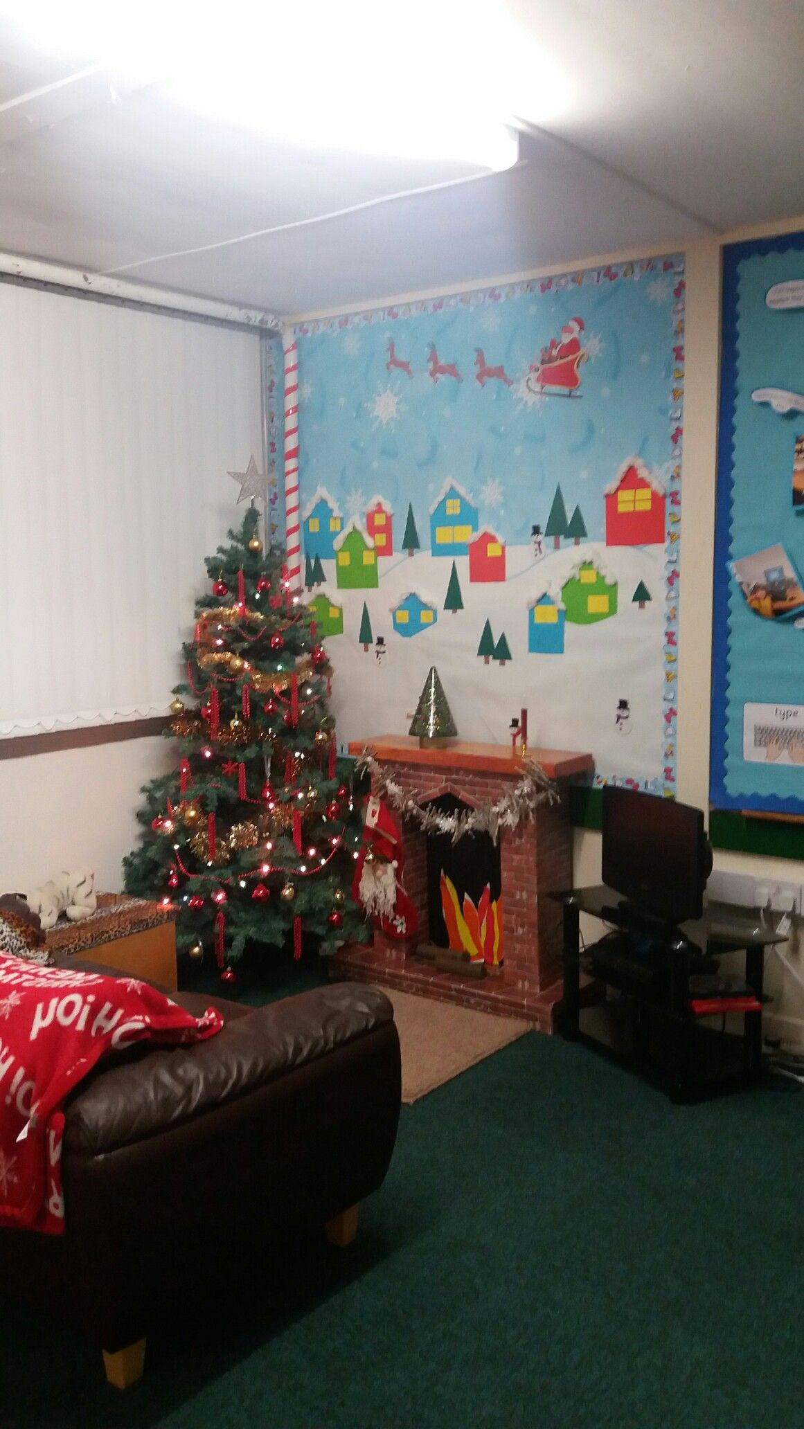 Cosy Christmas Corner In Our Before And After School Club Clroom Display Boards Displays