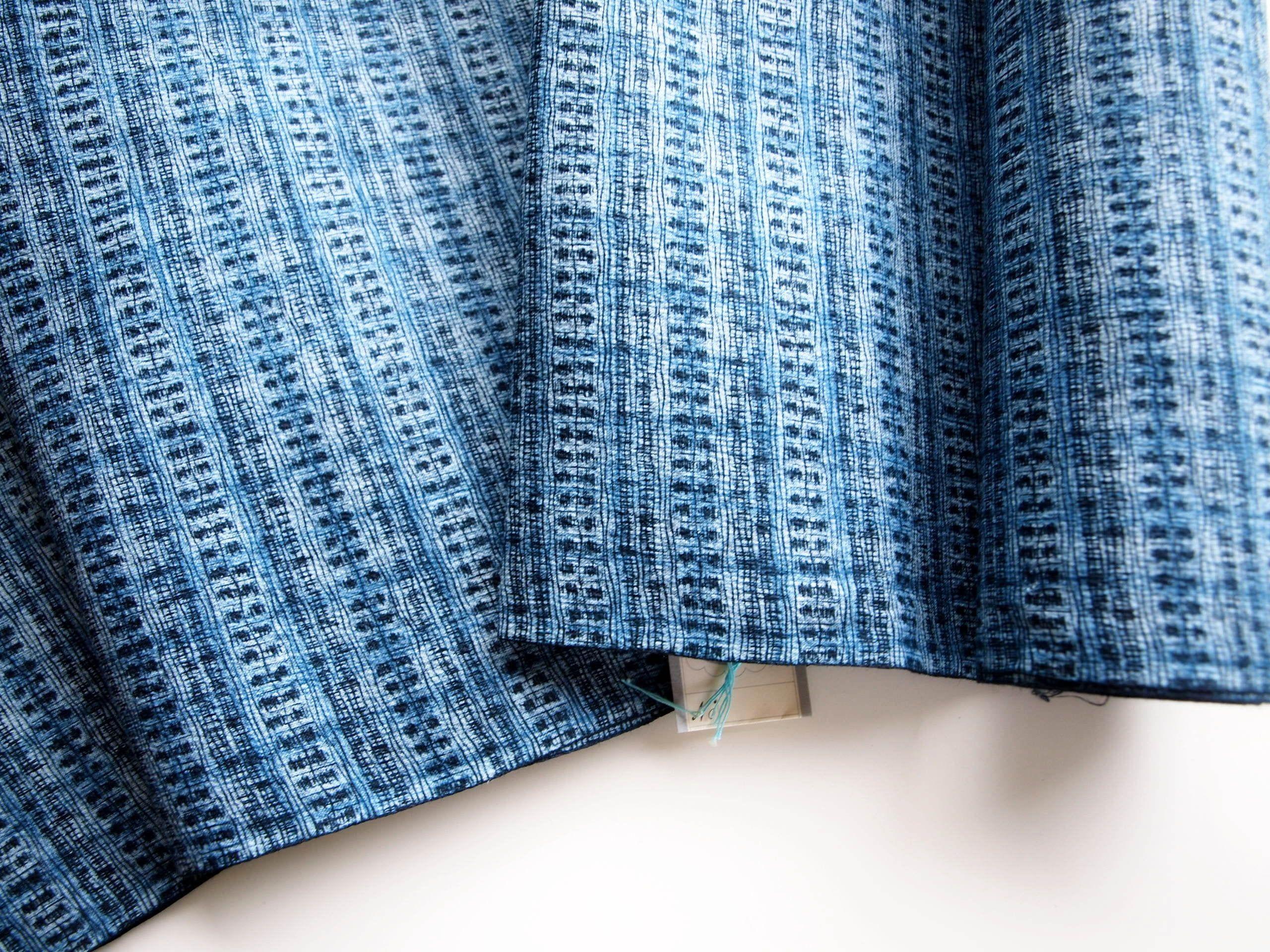 Papyrus Flowers Cotton Japanese Yukata Fabric Sold By The Etsy Fabric Japanese Yukata Indigo Fabric