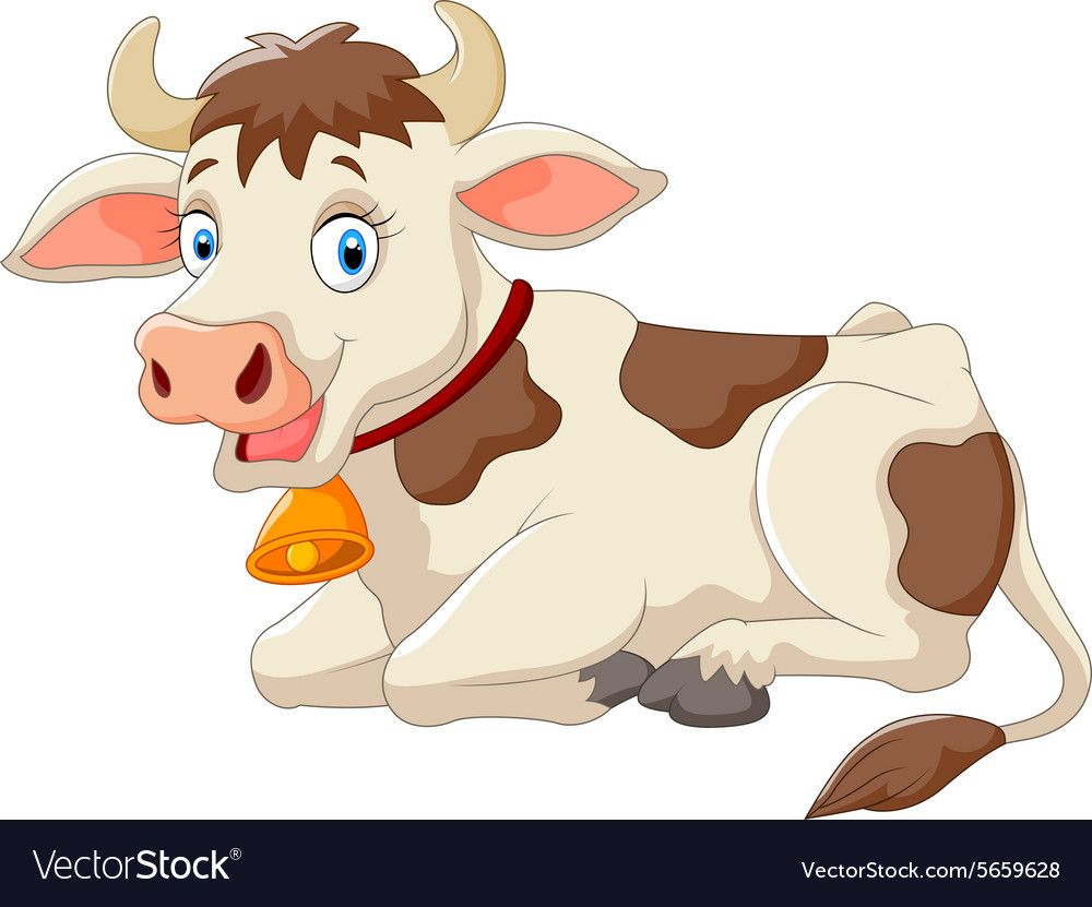 Illustration Of Cartoon Happy Cow Download A Free Preview Or High Quality Adobe Illustrator Ai Eps Pdf And High Resolutio Cow Illustration Happy Cow Cartoon
