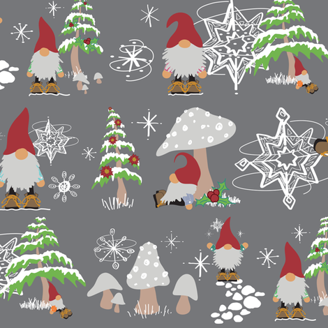 Colorful fabrics digitally printed by Spoonflower Winter