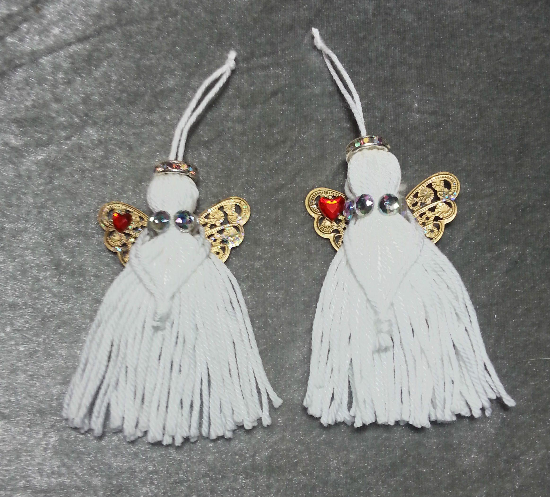 Angel Decorations To Make: DIY~Make Adorable Tassel Angel Ornaments!