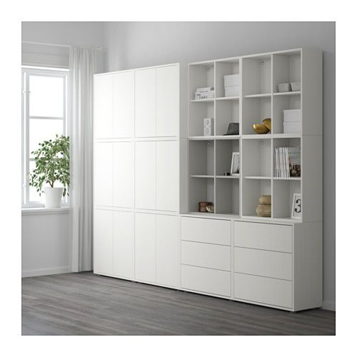 Eket cabinet combination with feet white ikea nel 2019 for Ufficio design ikea