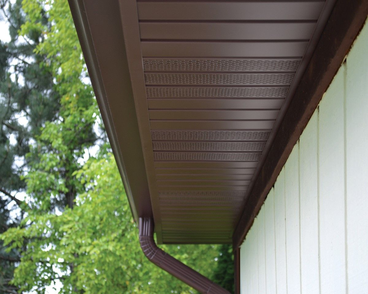 Brown Soffit And Fascia Soffit Ideas Improve Energy Efficiency House Exterior