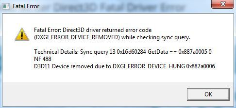 20150520: #Neverwinter Direct3D Fatal Driver Error - How To Fix It
