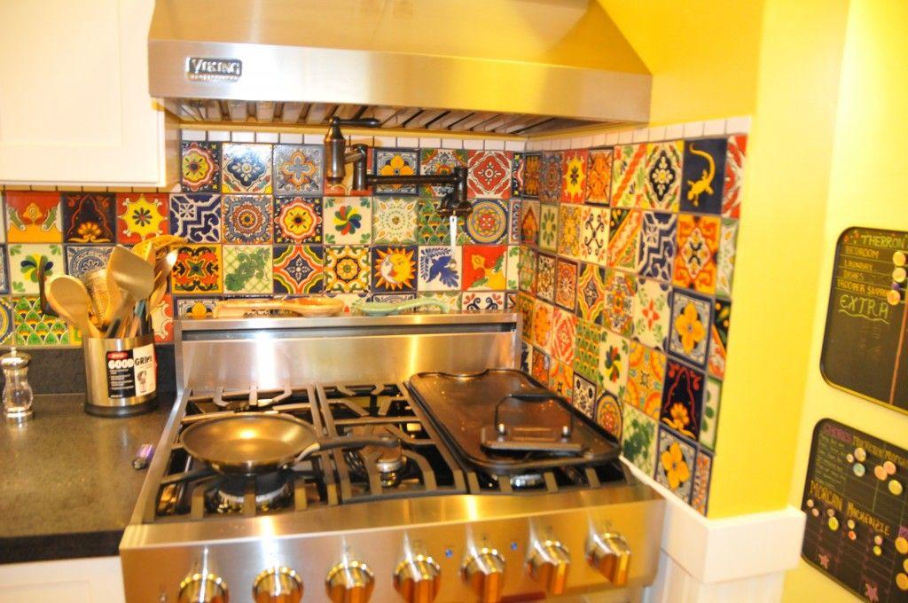 Eclectic Mixed Talavera Tile Backsplash Impatiently Crafty