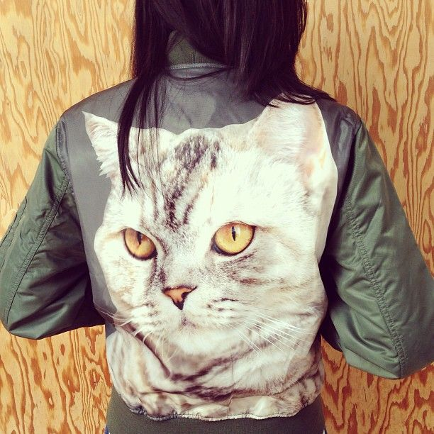 The MadeMe MA1 Cat Bomber Jacket. Epic. urbanoutfitters | Clothed