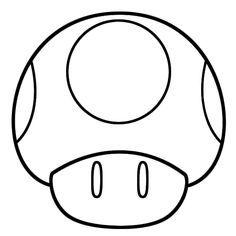 Mushroom Template Erase Spots And Boom Mario Coloring Pages Super Mario Coloring Pages Mario Crafts