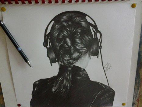 جديد اعمالي بالرصاص سارة اسماعيل محمد Drawings My Drawings Female Sketch