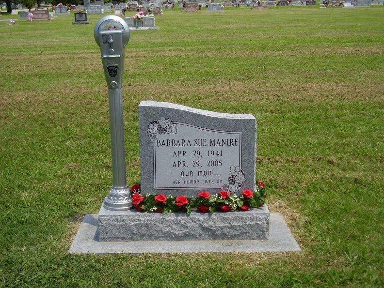 Parking Meter Headstone Gravely Interesting Cemetery Unusual