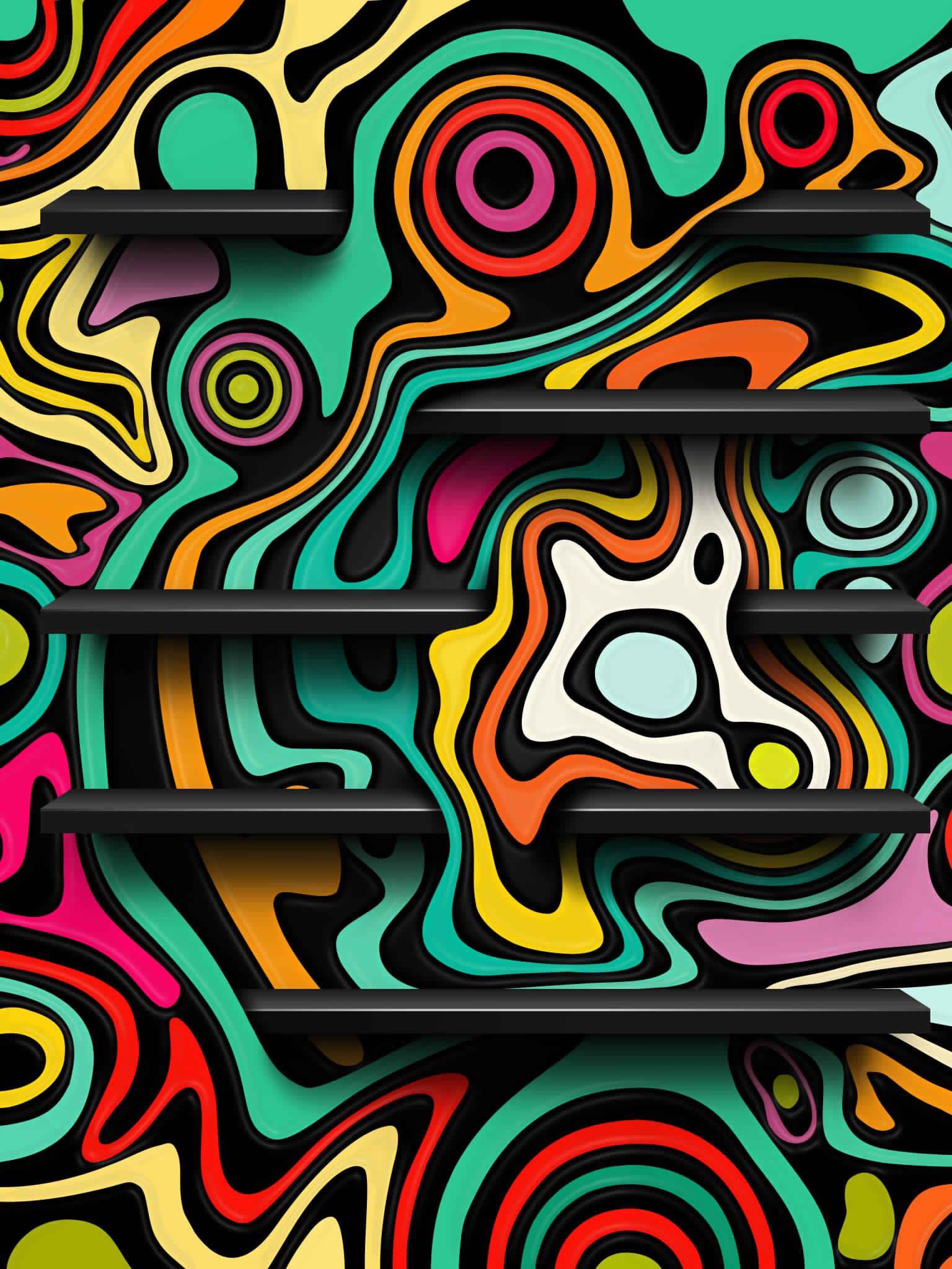 Wallpaper APP SHELVES Graffiti wallpaper, Iphone