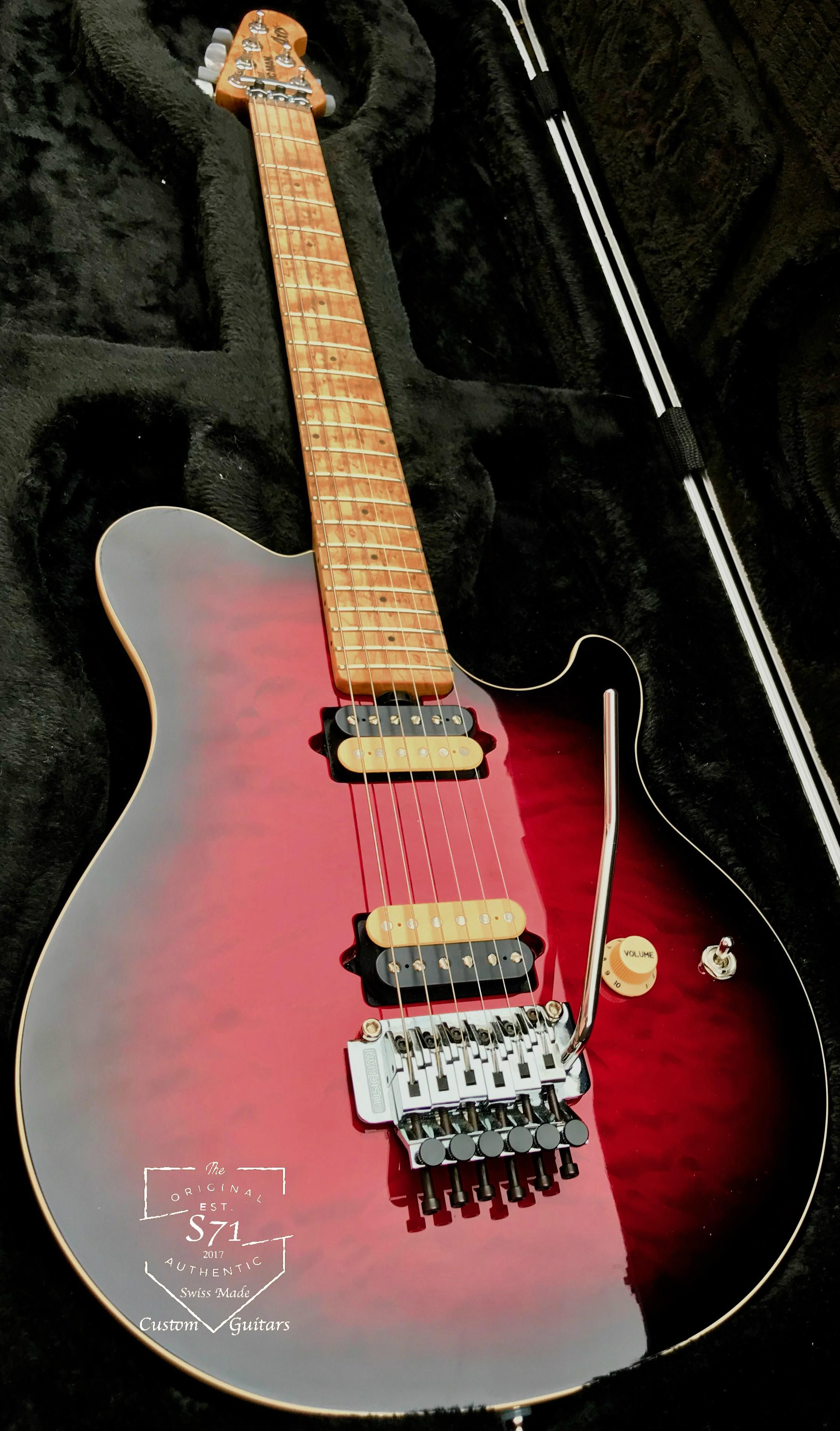 Just Received For The 1st Of 2018 Brand New Music Man Axis Evh Reissue Red Cherry Sunburst Quilt Maple Guitar Studio Custom Electric Guitars Famous Guitars