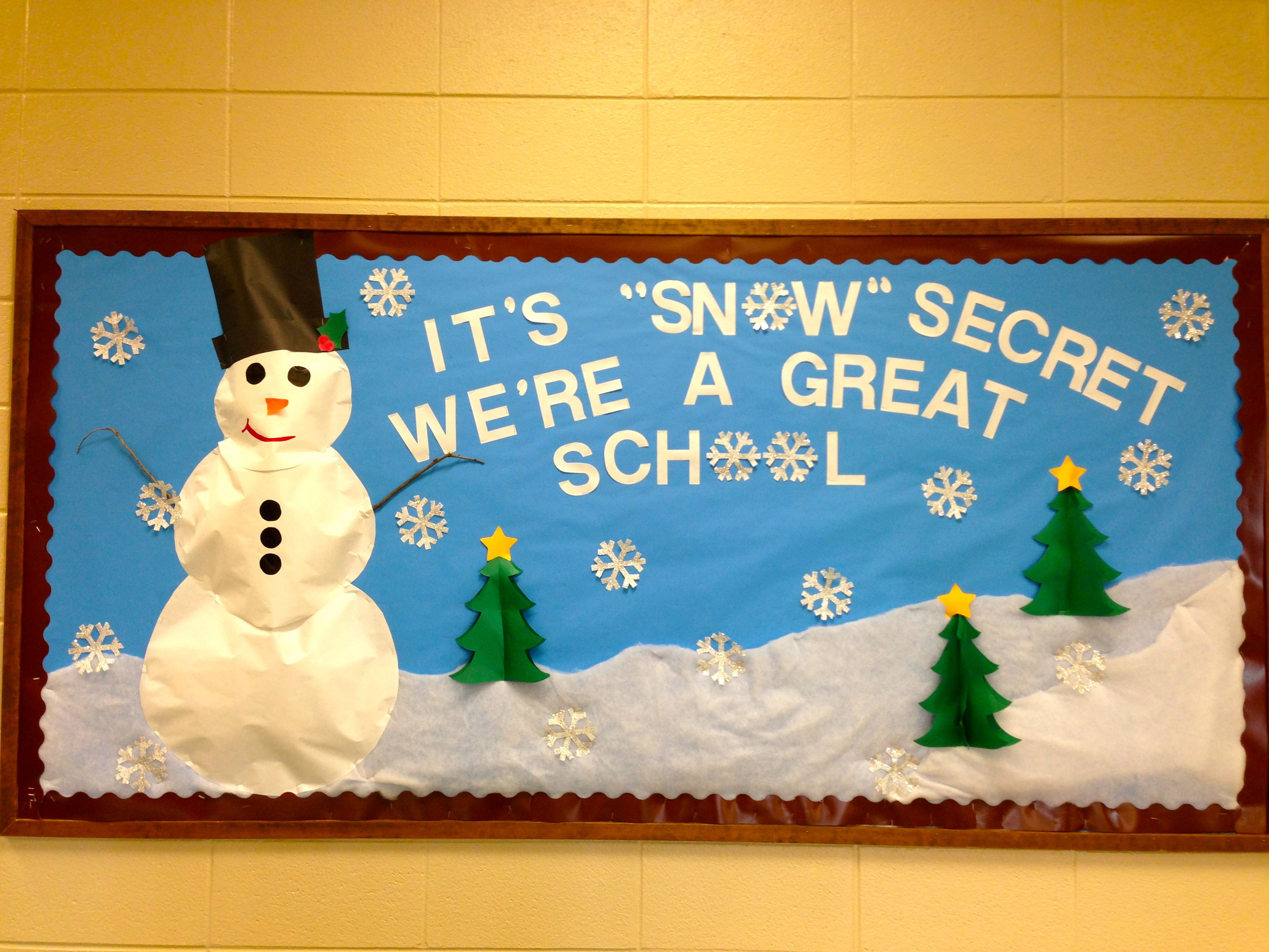 Winter Bulletin Board With Puffed 3 D Snowman
