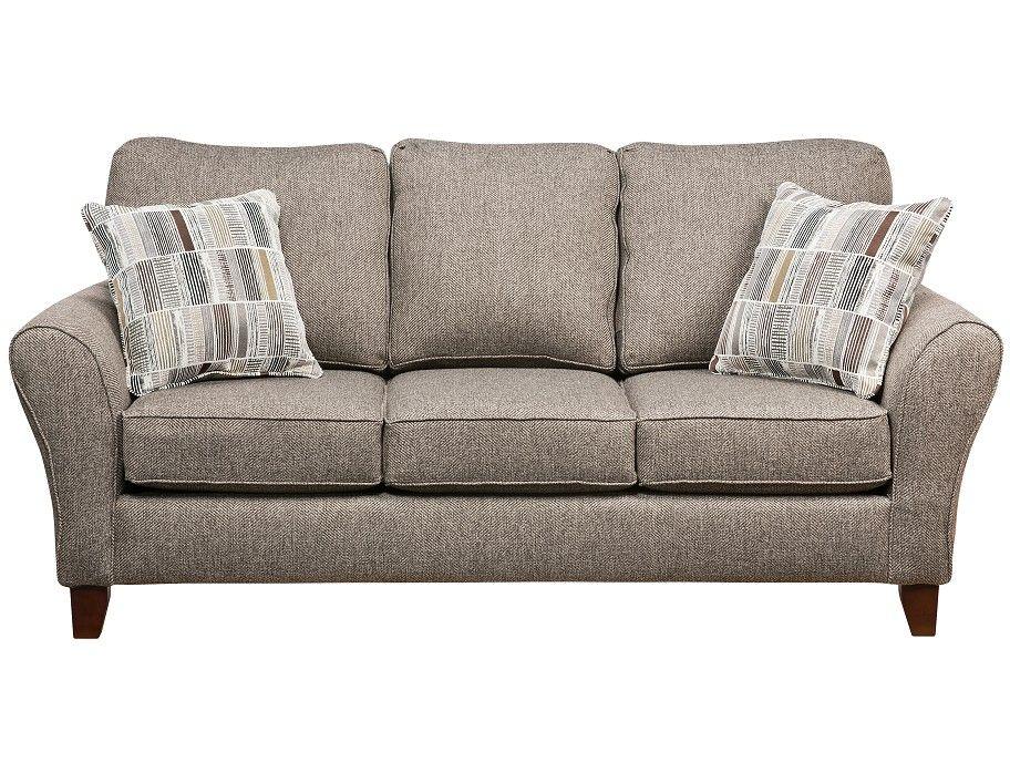 Binsfield Collection Sofa Tan SofaFabric SofaLiving Room FurnitureFamily