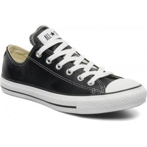 Converse Chuck Taylor All Star Leather Ox M - Heren /Zwart ...