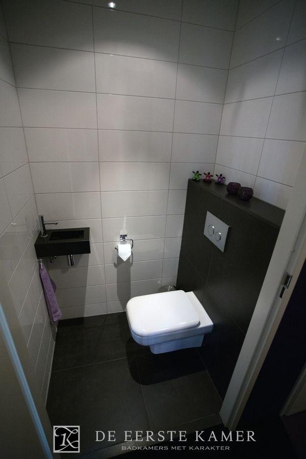 De eerste kamer een modern toilet in de kleuren zwart en wit meer foto s van onze toiletten - Wc zwart wit ...