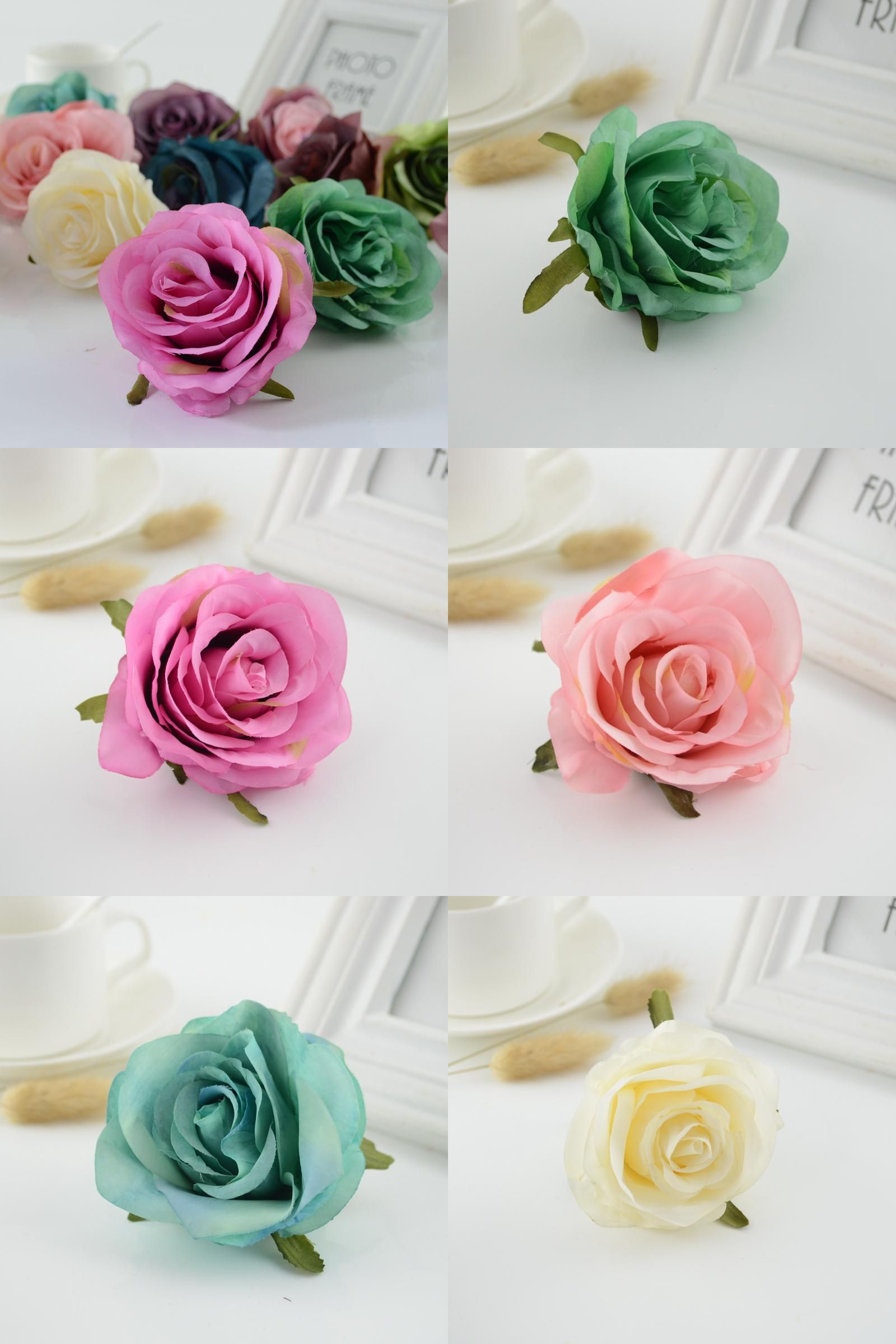 Visit to buy 1pcs artificial flower roses head for home wedding car visit to buy artificial flower roses head for home wedding car decoration new year christmas decorative flower bride bouquet accessories junglespirit Gallery