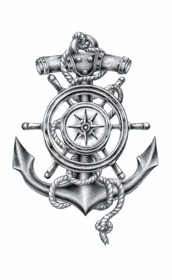 Image Result For Compass And Anchor Tattoo Tattoo Designs