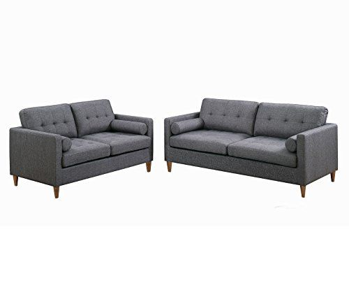 The Living Room Malvern: Poundex F6538 Bobkona Malvern 2-Piece Sofa And Loveseat