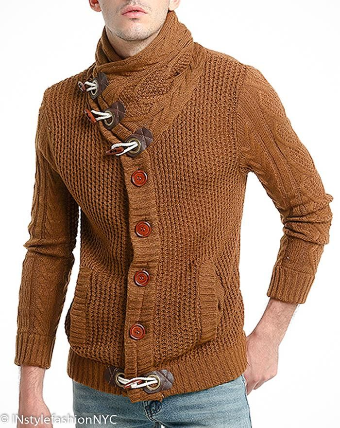 Mens Brown Shawl Turtleneck Sweater Instyle Fashion In 2018