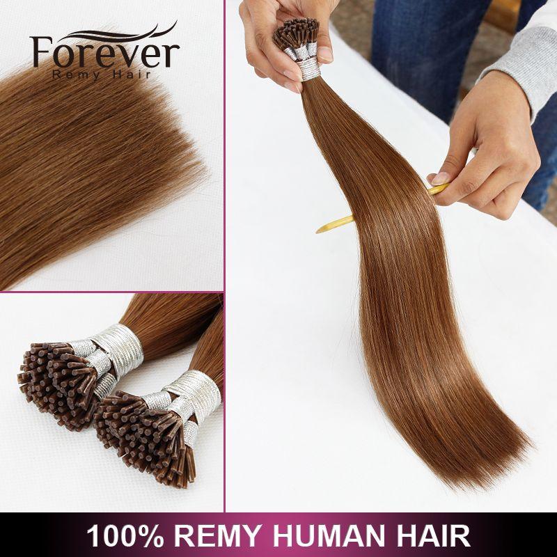 Xuchang Forever 100 Remy Human Cuticles Hair Italian Keratin Top