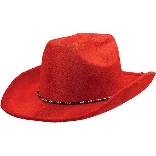 bf8d45546451 Red Suede Cowboy Hat