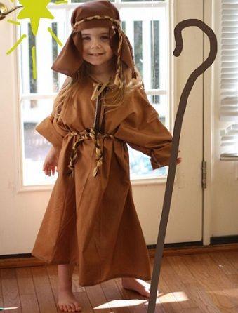 Disfraz pastor casero confeccion de ropa pinterest - Disfraz navideno nina ...