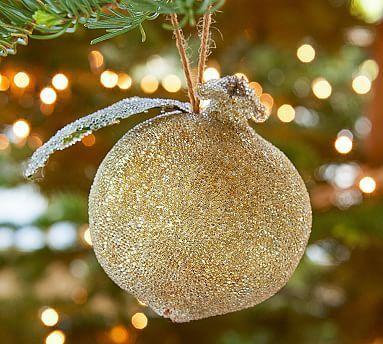 Gold Pomegranate Ornament #potterybarn Christmas decorations