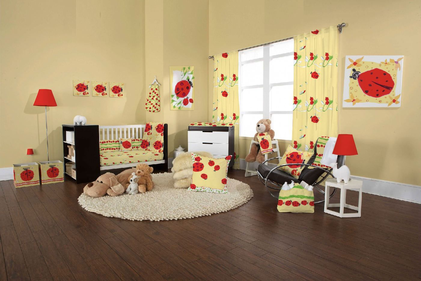 Baby Nursery. Attractive Baby Nursery Idea In Brown Wall And ...