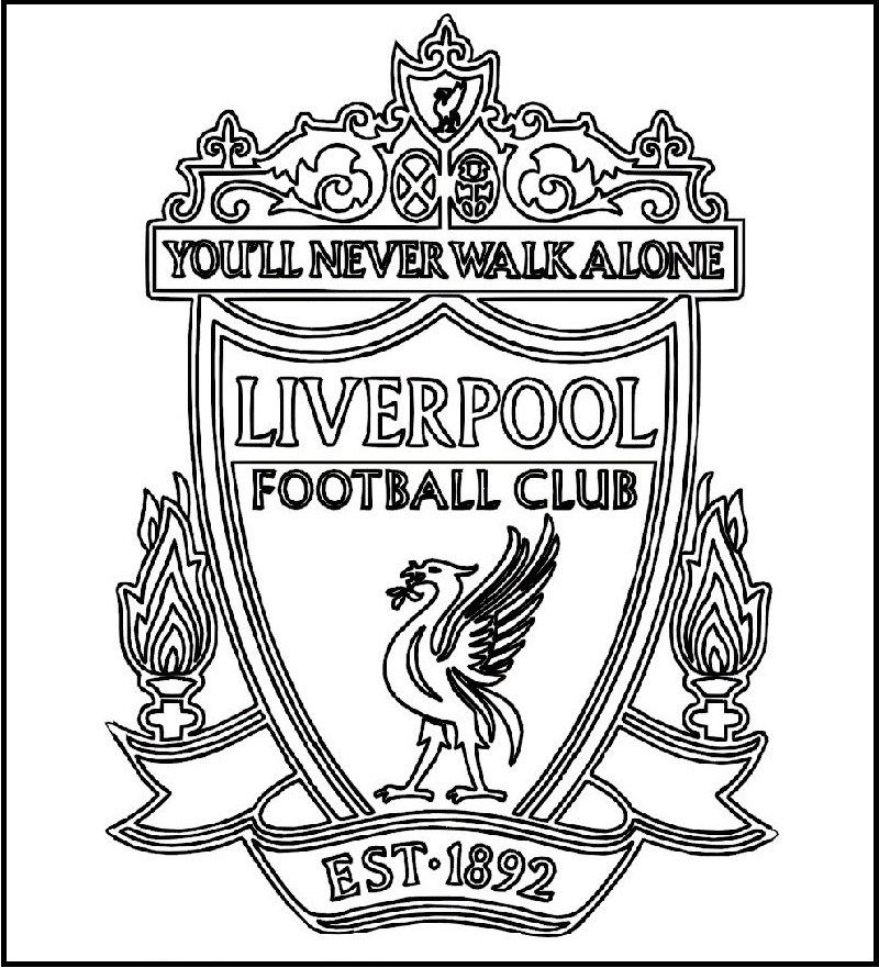 Liverpool Football Club Logo Coloring