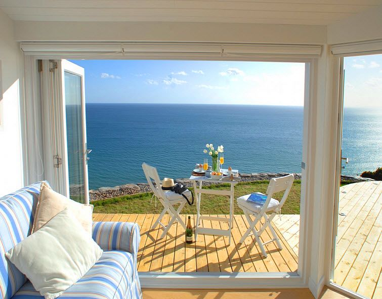 Astounding Beach House With An Ocean View At The Edge Whitsand Bay Download Free Architecture Designs Embacsunscenecom