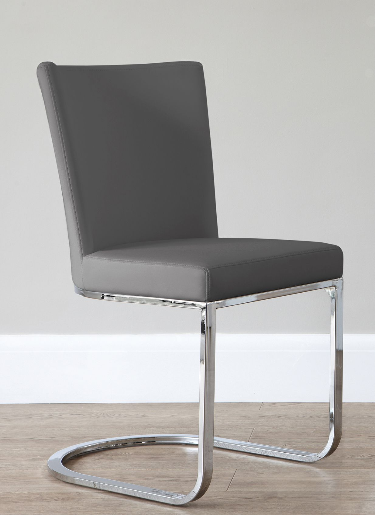 Form Cantilever Dining Chair Faux Leather Dining Chairs Dining