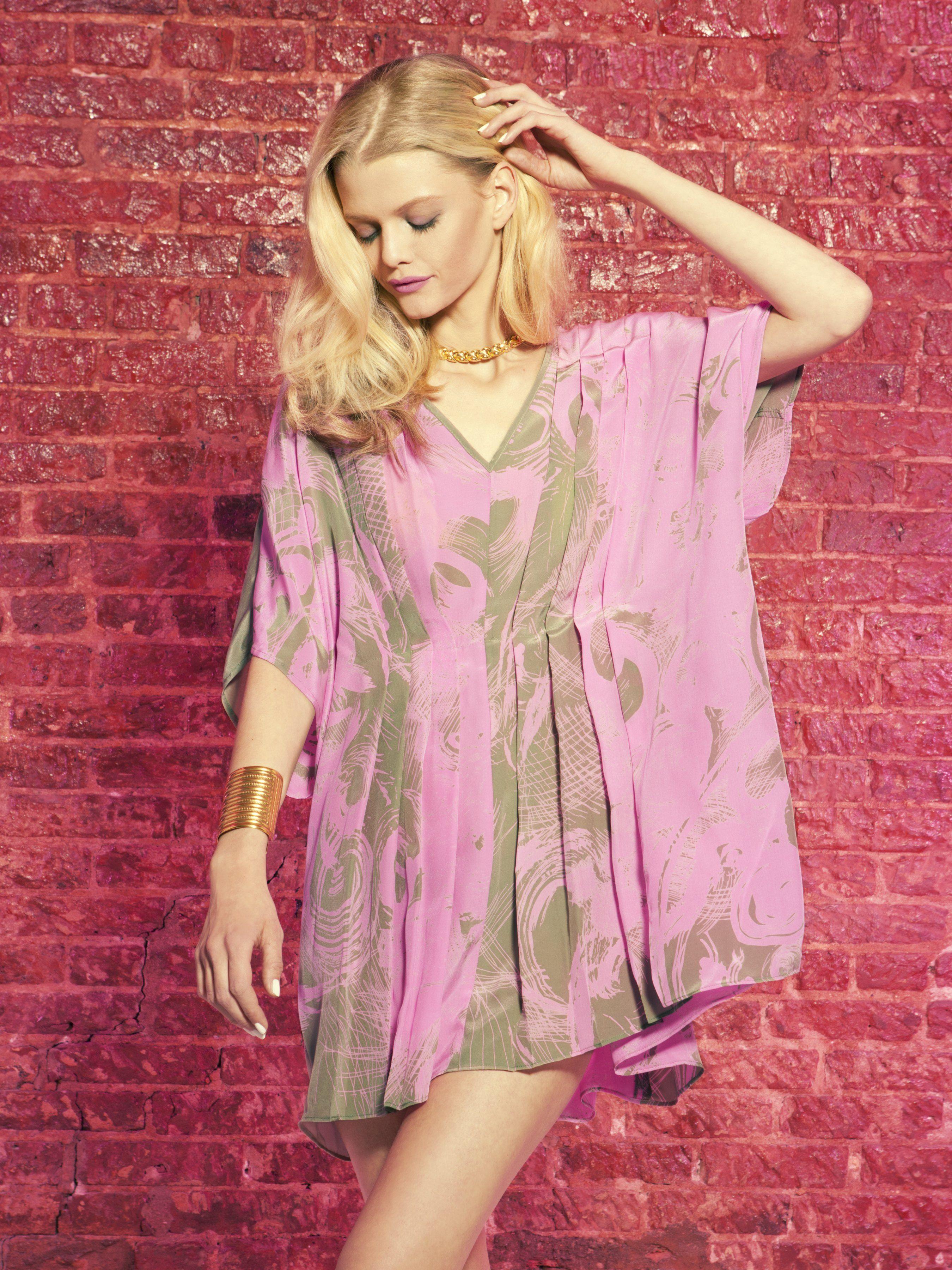 Hunter Bell Isabelle Caftan in Neon Oasis Dress Summer 2012