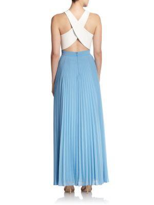 Paris Hilton wears mist v-neck maxi dress by Sachin and Babi