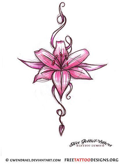 Pink flower tattoo drawing tattoos pinterest pink flower pink flower tattoo drawing mightylinksfo