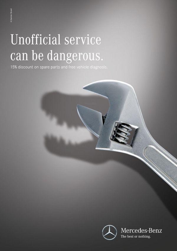 Esto fue lo que hizo Mercedes-Benz para promocionar sus servicios de reparación y mantenimiento.