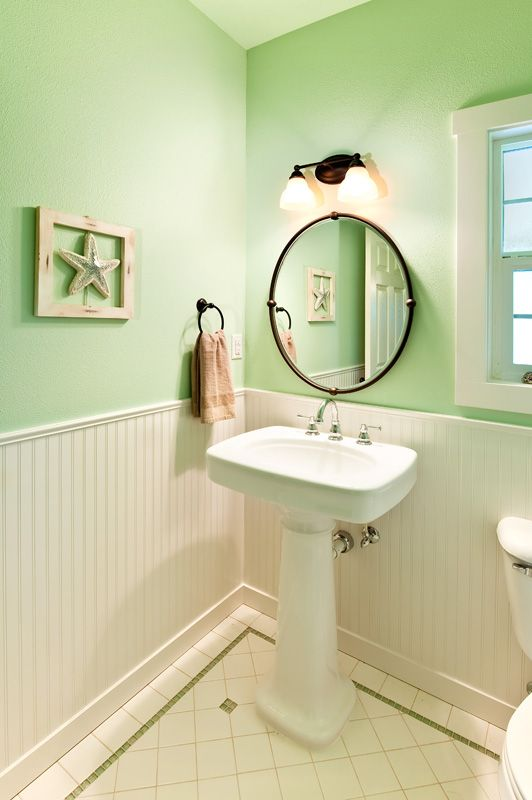 Airy powder room by www.powell Construction.com, Corvallis, OR ...