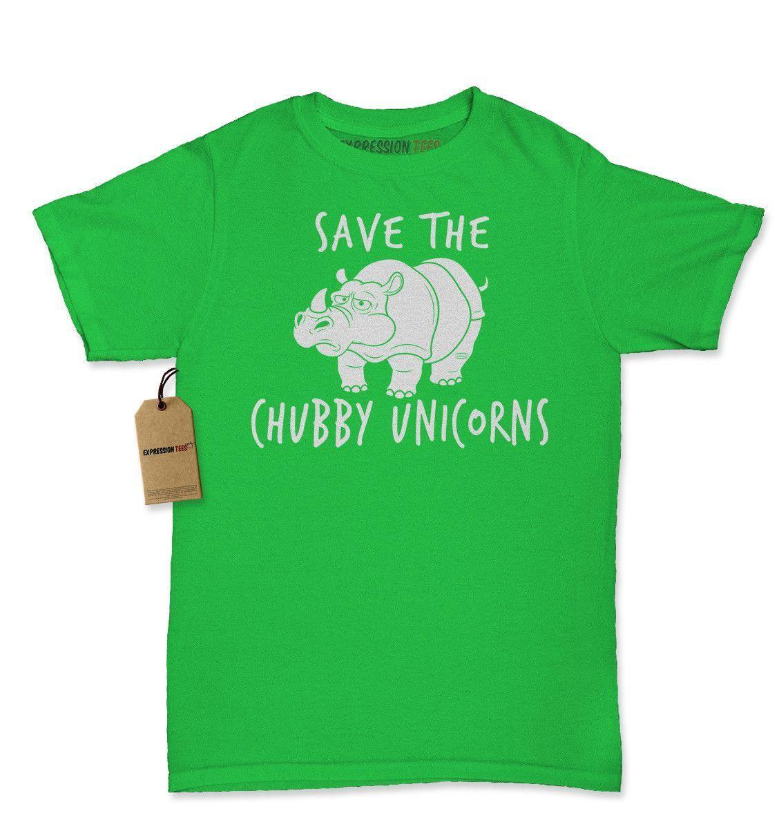 Save The Chubby Unicorns Rhino Womens T-shirt