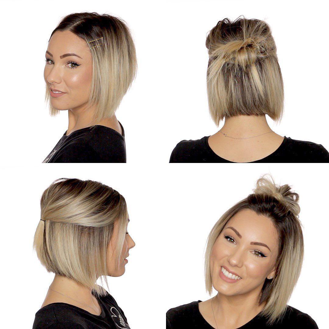 Longhairstyles Shorthairstyles In 2020 Easy Hairstyle Video Short Hair Styles Short Hair Updo