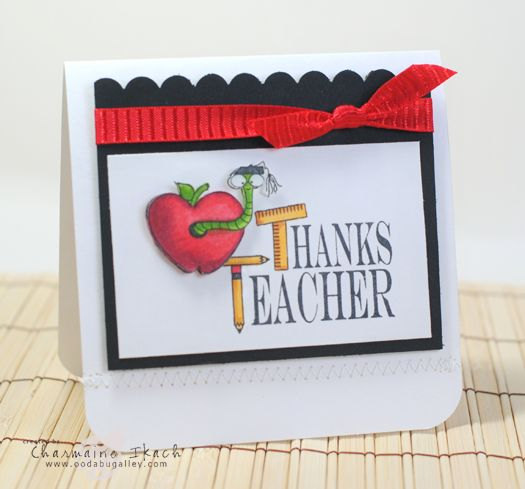 Great teacher card