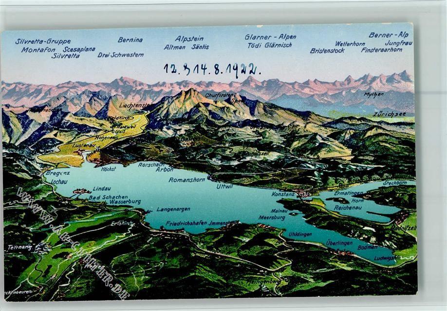 7990 Friedrichshafen Karte Bodensee Karte Bodensee Bodensee