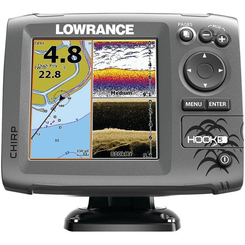 Lowrance Hook5 Fish Finder/Chartplotter Combo, Blue