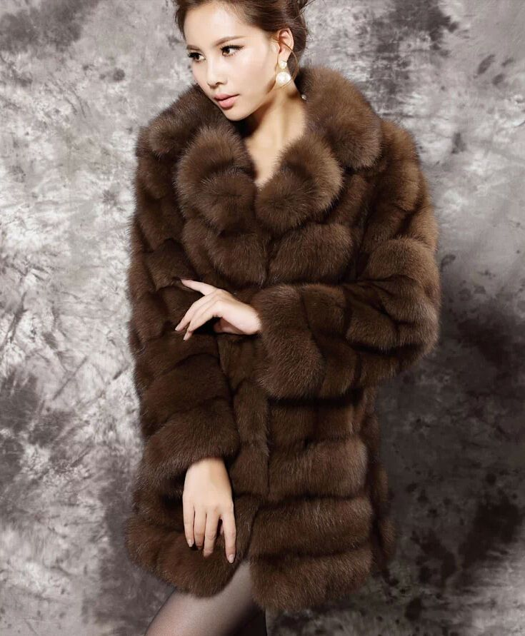 The new luxury mink fur wealth whole noble mink coat winter long ...