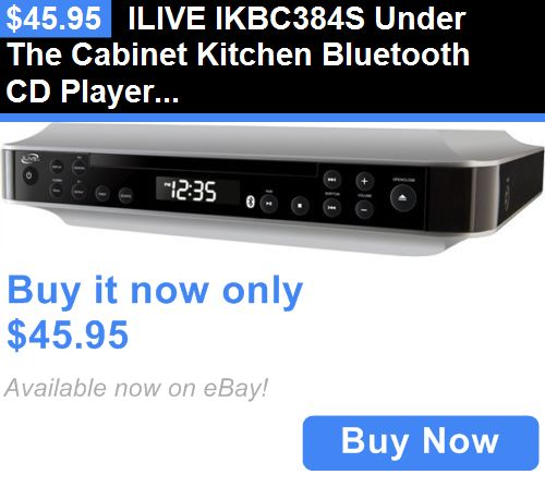 Explore Kitchen Bluetooth  Radio Bluetooth  and more. Home Audio  Ilive Ikbc384s Under The Cabinet Kitchen Bluetooth Cd