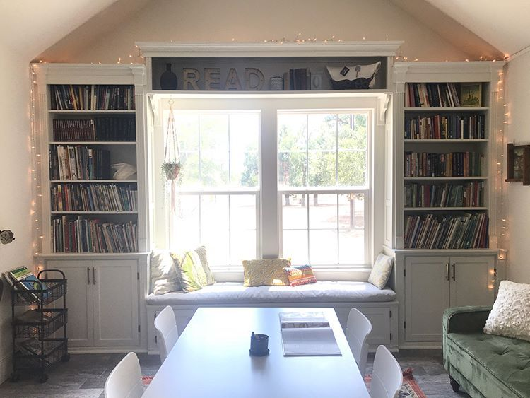 Window Seat Flanked By Built In Bookcases Window Seat Design