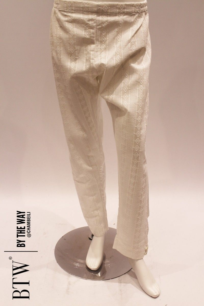 102500 White Embroidered Trouser - BTW Lowers 2016
