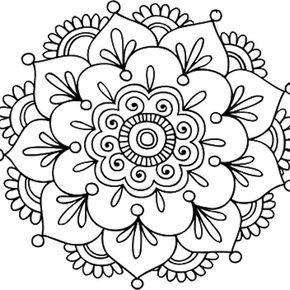 Simple Mandala Flower