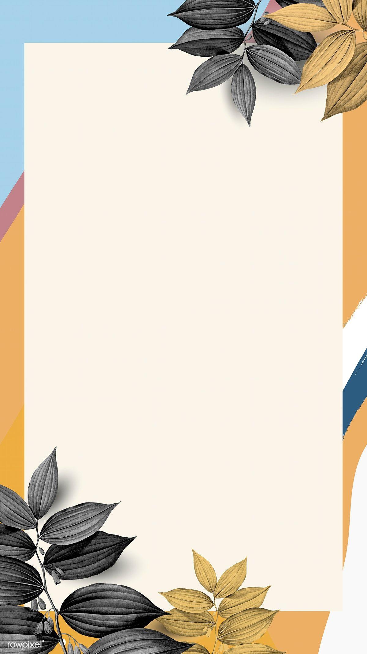 Rectangular Memphis Frame Design Vector Premium Image By Rawpixel Com Adj Poster Bunga Latar Belakang Seni