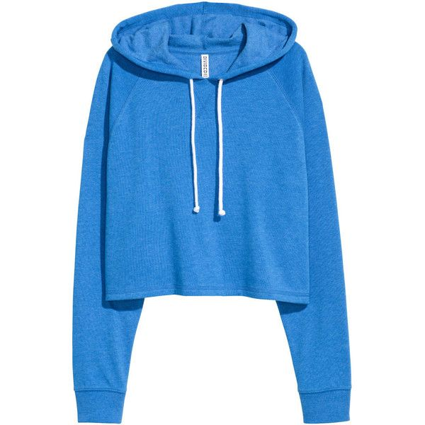 Short Hooded Sweatshirt $17.99 ($18) ❤ liked on Polyvore ...