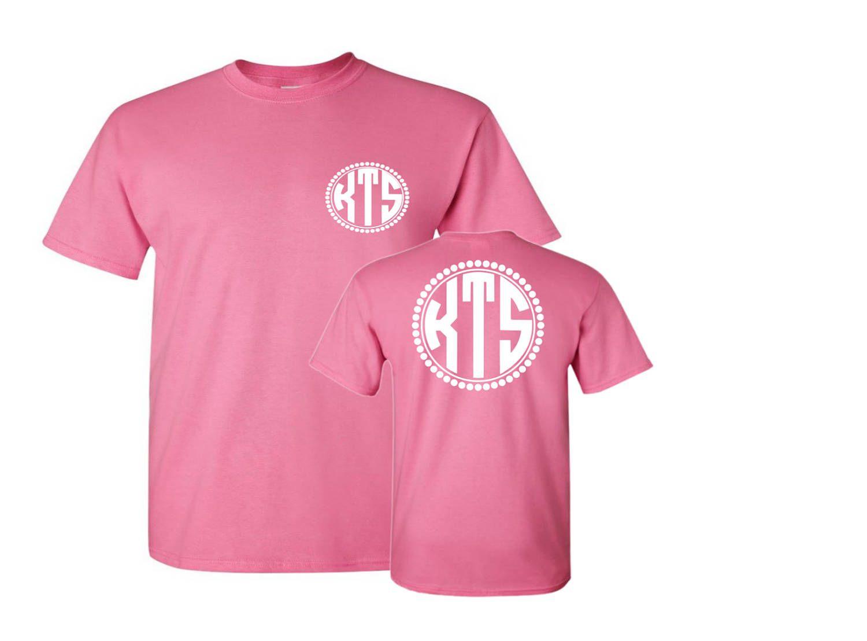 Monogrammed T-Shirt, Front & Back Monogram T-Shirt, Custom T-Shirt ...